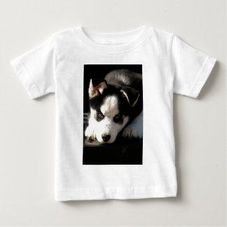Sleepy Lop Eared Siberian Husky Puppy Infant T-Shirt