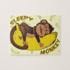 Sleepy Monkey Jigsaw Puzzle