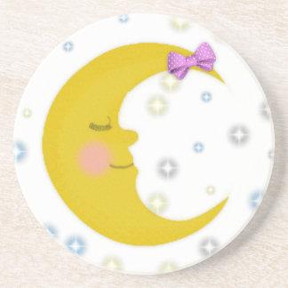 Sleepy Moon Coasters