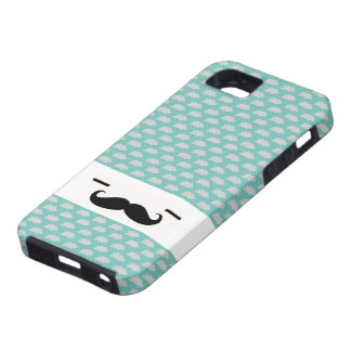 Sleepy Mustache Man Case Clouds iPhone 5 Covers
