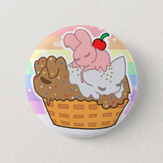 Sleepy Neapolitan Pets (Button) 6 Cm Round Badge