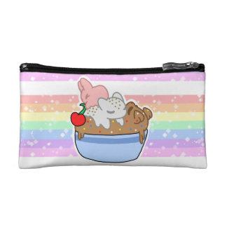 Sleepy Neapolitan Pets in a bowl Makeup Bag