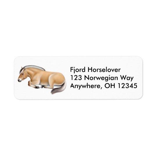 Sleepy Norwegian Fjord Horse Label Return Address Label