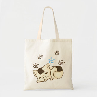 Sleepy Onigiri Cat Tote