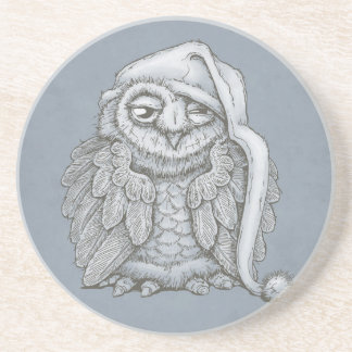 Sleepy Owl Coaster