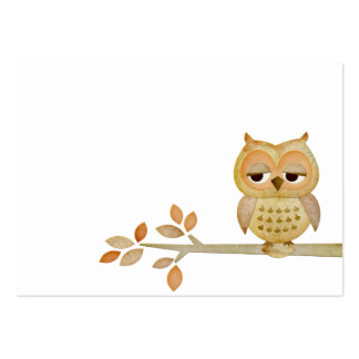 Sleepy Owl in Tree Business Card
