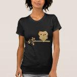 Sleepy Owl in Tree T-Shirt