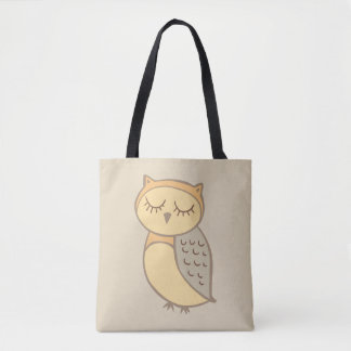 Sleepy Owl Tote Bag