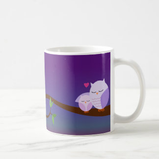 Sleepy Owls Personalized Mug