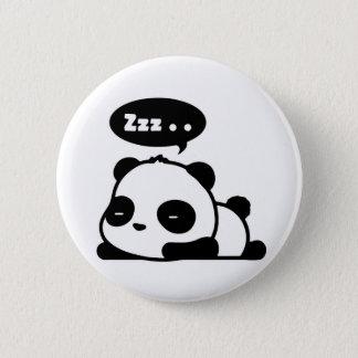 sleepy panda button white backgroud