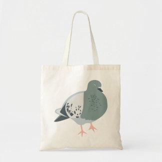 Sleepy Pigeon Tote Bag