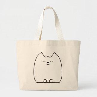 Sleepy Pretty Kitty Large Tote Bag