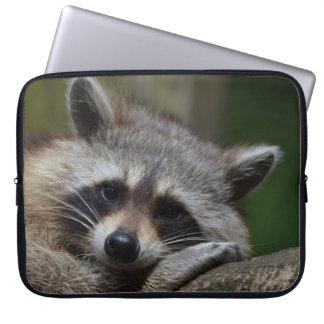 Sleepy Raccoon Laptop Sleeve
