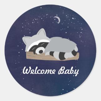 Sleepy Raccoon Stickers