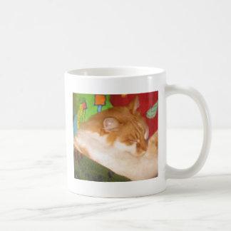 Sleepy Red Cat Coffee Mugs