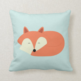 Sleepy Red Fox Cushion