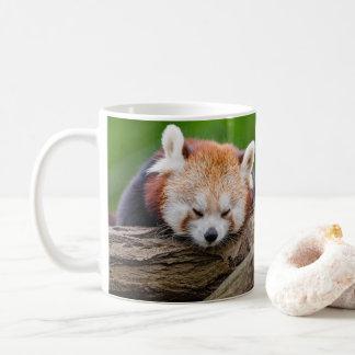 Sleepy red panda coffee mug