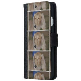 Sleepy Saluki Dog iPhone 6 Wallet Case