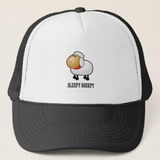 sleepy sheep trucker hat