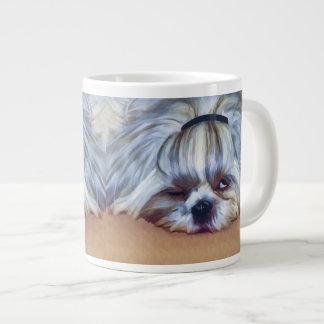 Sleepy Shih Tzu Dog 20 Oz Large Ceramic Coffee Mug