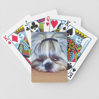 Sleepy Shih Tzu Dog Poker Deck