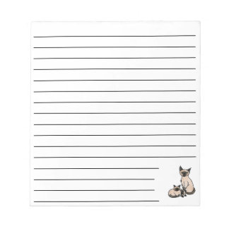 Sleepy Siamese Notepad
