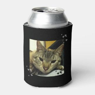 Sleepy Siamese Tabby Cat Can Cooler