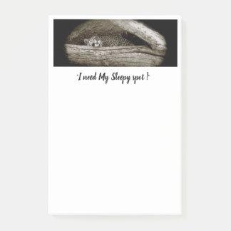 """""""Sleepy Spots"""" Post-It Notes, 4 x 6 Post-it Notes"""