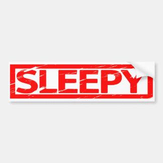 Sleepy Stamp Bumper Sticker