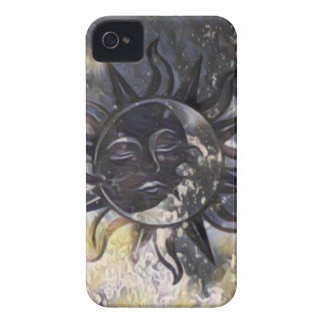 Sleepy Sun Moon iPhone 4 Case-Mate Cases