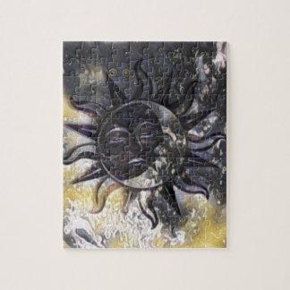 Sleepy Sun Moon Jigsaw Puzzle