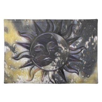 Sleepy Sun Moon Placemat