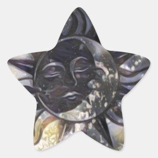 Sleepy Sun Moon Star Sticker
