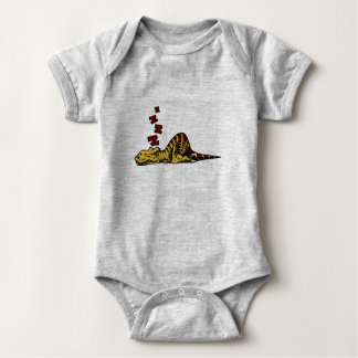 SLEEPY T-REX - BABY SUIT BABY BODYSUIT