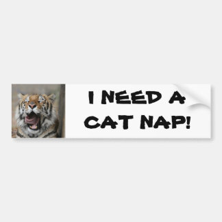Sleepy Tiger Bumper Sticker