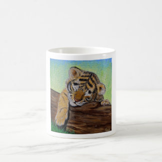 Sleepy Tiger cub Coffee Mug