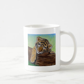 Sleepy Tiger cub Coffee Mug