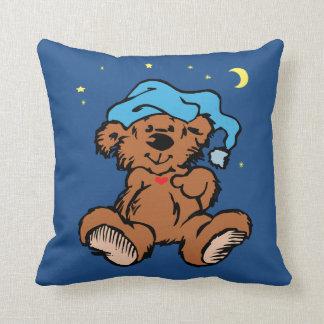 Sleepy Time Bear Moon and Stars Cushion