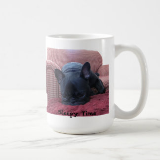 Sleepy Time French Bulldog Mug