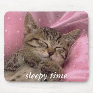 sleepy time mouse pad kitten