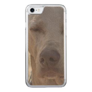 Sleepy Weimaraner Carved iPhone 8/7 Case