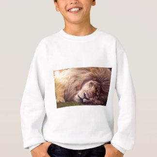 Sleepy white lion sweatshirt