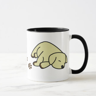 Sleepy Yellow Lab Puppy Mug