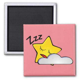 Sleepy Yellow Star Magnet