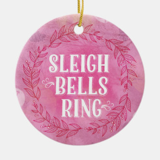 Sleigh Bells Ring- Pink Ornament