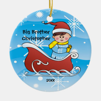 Sleigh Big Brother Christmas Ornament