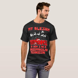 Sleigh Broke Cardiovascular Technician Christmas T-Shirt