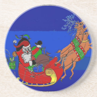 Sleigh Ride Beverage Coaster