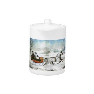 Sleigh Ride Tea Pot