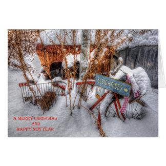 Sleigh Rides Christmas Card